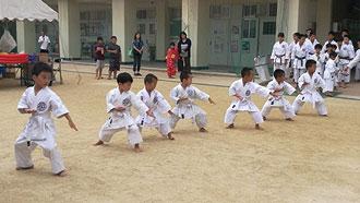 演武練習-幼児平安二段