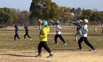 2021年2月13日空手野外練習(大阪市城東区 晴城会)
