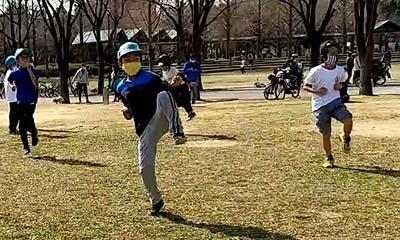 2021年2月21日空手野外練習(鶴見緑地 空手)