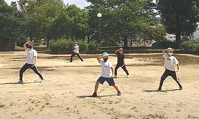 2021-9月は土曜日のみ屋外練習を行います。