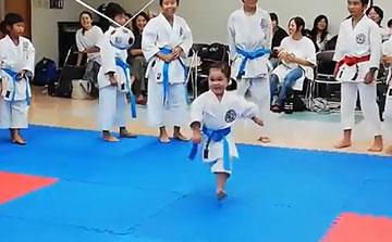 空手運動会 飛び蹴りボールハイキック1(晴城会 城東区)
